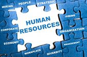 Human Resource Human Resource blaue Puzzle-Teile montiert