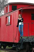Girl On The Train Caboose