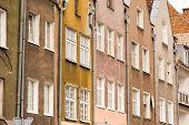 closeup da arquitetura histórica em Gdansk, Polónia