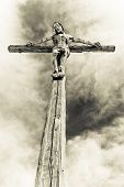holy cross with crucified Jesus Christ