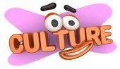 Culture Language Heritage Cartoon Face 3d Illustration poster