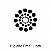 Big And Small Dots Icon In Trendy Design Style. Big And Small Dots Icon Isolated On White Background poster
