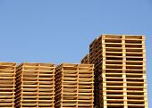 Stack Of Wooden Shipping Pallets