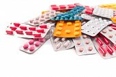 stock photo of viagra  - packs of medical pills and tablets - JPG