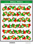 Winter, Winter Holidays, Christmas Or New Year Visual Puzzle (suitable Both For Kids And Adults): Ma poster