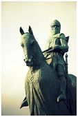 foto of braveheart  - The Robert the Bruce Statue in Bannockburn - JPG