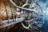 Gas Turbine Engine Of Feed Gas Compressor Located Inside Pressurized Enclosure, The Gas Turbine Engi poster