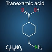 Tranexamic Acid (txa) Drug Molecule, Is Used For Preventing Excessive Bleeding. Structural Chemical  poster