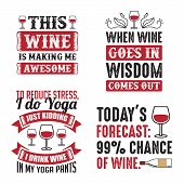 Wine Quote And Saying Set, Best For Print Design poster