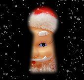 Santa - Through Keyhole