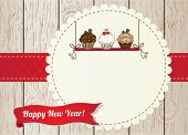 New year cupcake card