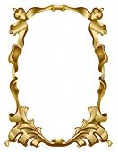 Abstract gold frame baroque style