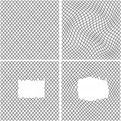 set of vector wire backgrounds