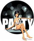 vector illustration of party girl