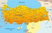 Vector map of Turkey country