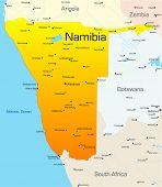 Mapa de color abstracto vector de país de Namibia