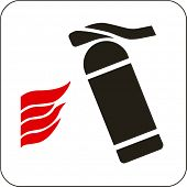 Vector illustration: fire extinguisher sign