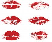 Abstract vector impress of lips