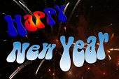 Happy New Year On Firework poster