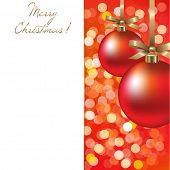 Christmas Card With Ball, Vector Illustration