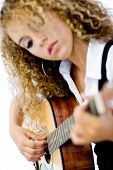 Girl And Acoustic Guitar
