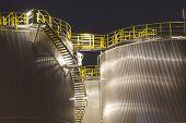 Petrochemical storage tanks