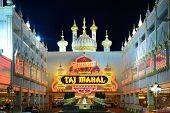 ATLANTIC CITY - SEPTEMBER 8: Trump Taj Mahal September 8, 2012 in Atlantic City, NJ. The casino is one of two casinos owned by Trump Entertainment Resorts and has the city's second largest poker room.