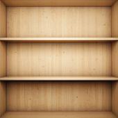 Estantería de madera en blanco