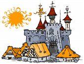 Ilustração do castelo.