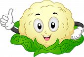 Mascot Illustration of a Cauliflower Giving a Thumbs Up