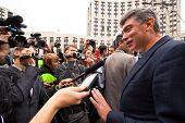 Moskau - 15 SEPTEMBER: einer der Oppositionsführer, ehemaliger Erster Vizepremier Boris Nemts