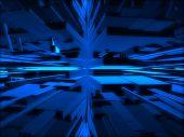 Fantasy Blue Futuristic Constructions
