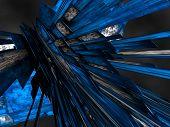 Blue Fantasy Futuristic Constructions