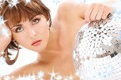 Glitterball Lady Portrait