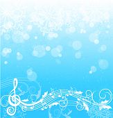 Winter song background