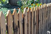 A Fence Made Of Boards