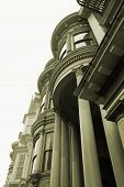 San Francisco Victorian Architecture Sepia