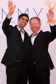 LOS ANGELES - SEP 23:  Jesse Tyler Ferguson arrives at the 2012 Emmy Awards at Nokia Theater on Sept