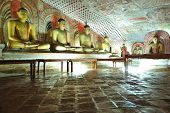 Dambulla - October 15: Dambulla Cave Temple Is The Large Cave Temple Complex With More Than 80 Docum