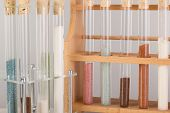 Test Tubes In A Pharmaceutical Laboratory