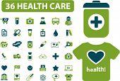 36 health & medicine icons set vector