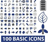 Постер, плакат: 100 основные иконы set вектор