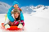 pic of snow-slide  - Winter - JPG