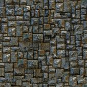 Seamless masonry wall closeup background.