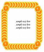 Scheibe Orange machen Frame für Beispieltext