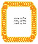 Slice Of Orange Making Frame For Sample Text