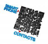 Contactos de teléfono inteligente QRcode