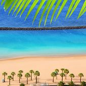 Beach Las Teresitas in Santa cruz de Tenerife north at Canary Islands [Photo Illustration]