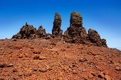 Roque de los Muchachos stones in Caldera Taburiente La Palma at Canary Islands