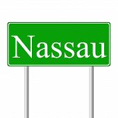Nassau green road sign
